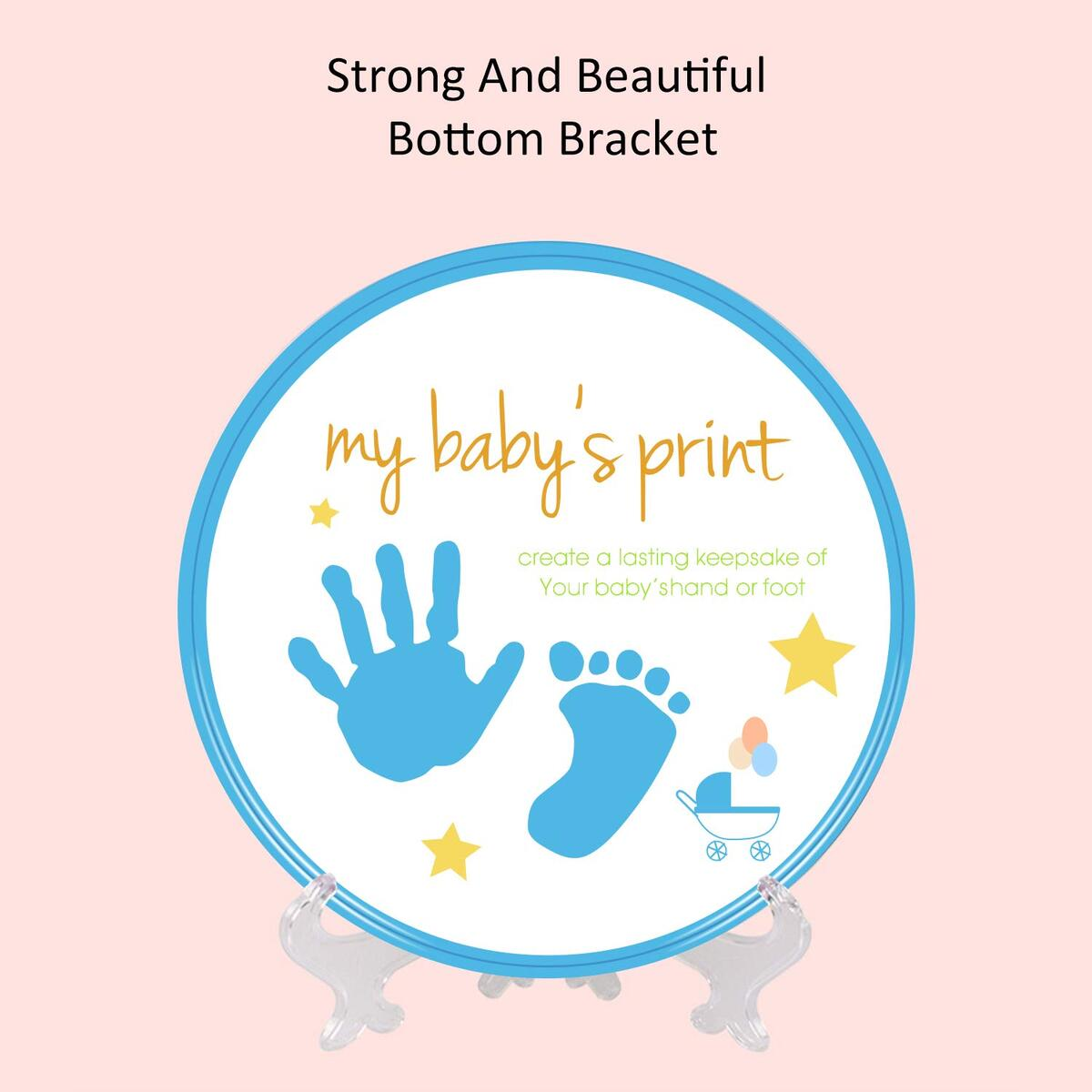 Newborn Baby Handprint and Footprint Kit (Blue or Pink Color)