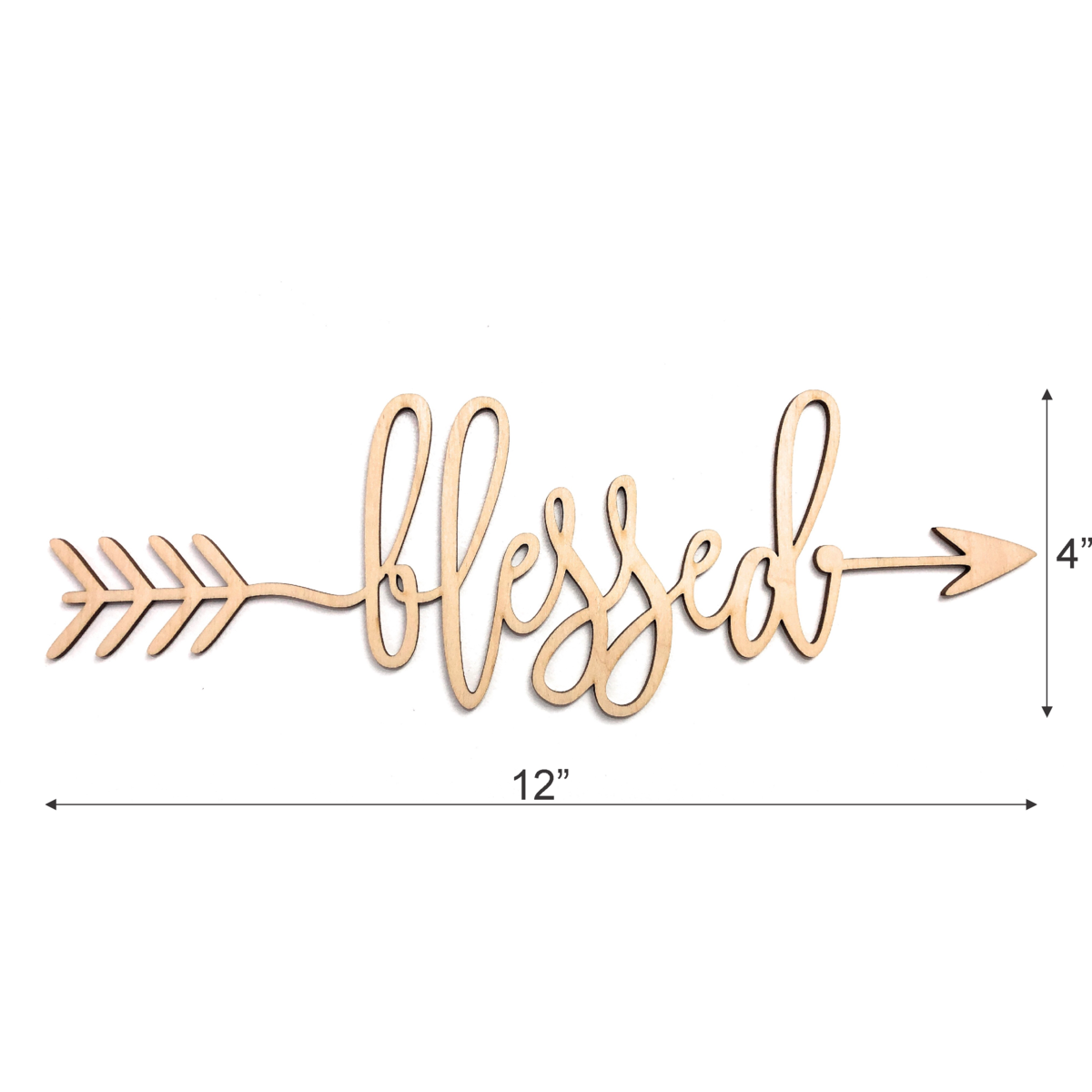 SDF ART - Blessed Wooden Sign - Wall Décor - Home Decoration for Living Room Bedroom - Rustic Wood Decor (Blessed, 12 inches Wide x 4 inches Tall)