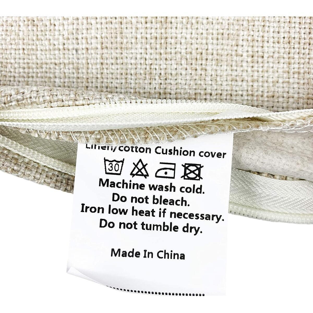 DrupsCo 18x18 Hummingbird Pillow Cover, Cotton Linen Hummingbird Pillow Case, Cabin Decorative Pillows