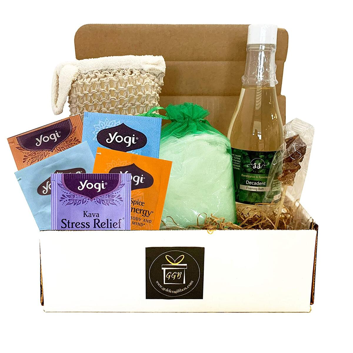 Home Spa Gift Basket For Women - CLASSIC EDITION - EUCALYPTUS SPEARMINT