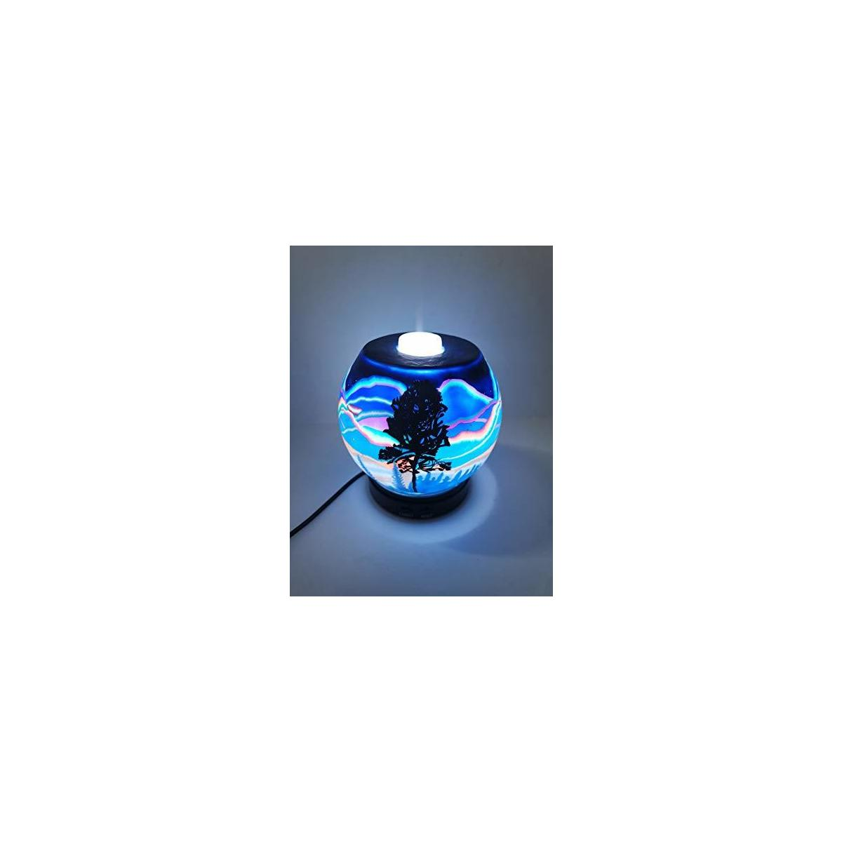 EssentialLitez Essential Oil Diffuser Ultrasonic Handcrafted 120ml Aroma Essential Oil Cool Mist Humidifier with Adjustable Mist Mode, Auto Shut-off and 7 Color LED Lights Changing (Northern Lights)