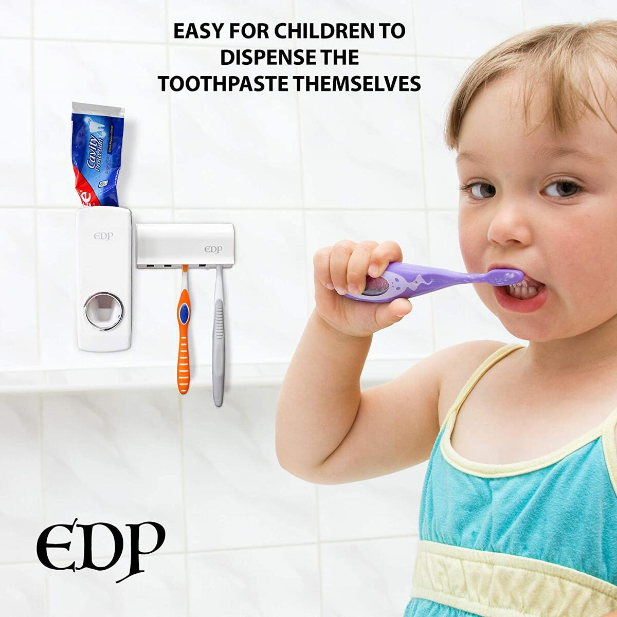New EDP Auto Toothpaste Dispenser and Brush Holder by Everyday products