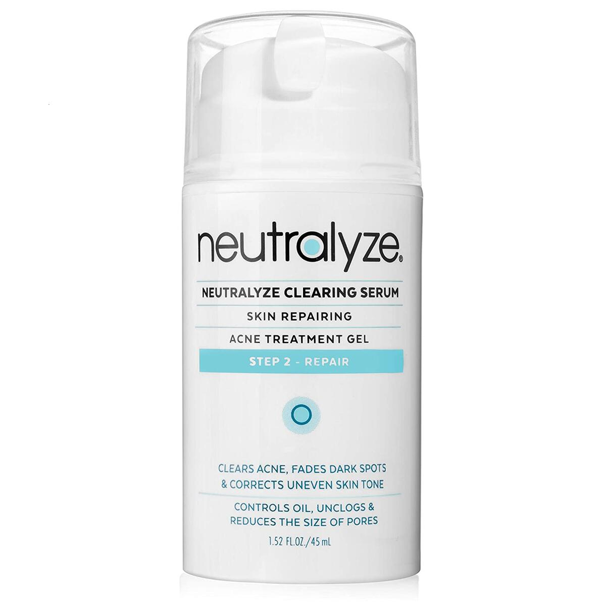 Neutralyze Moderate To Severe Acne Clearing Serum - Maximum Strength Cystic Acne Treatment + Acne Spot Treatment With 2% Salicylic Acid + 1% Mandelic Acid + Nitrogen Boost Skincare Technology