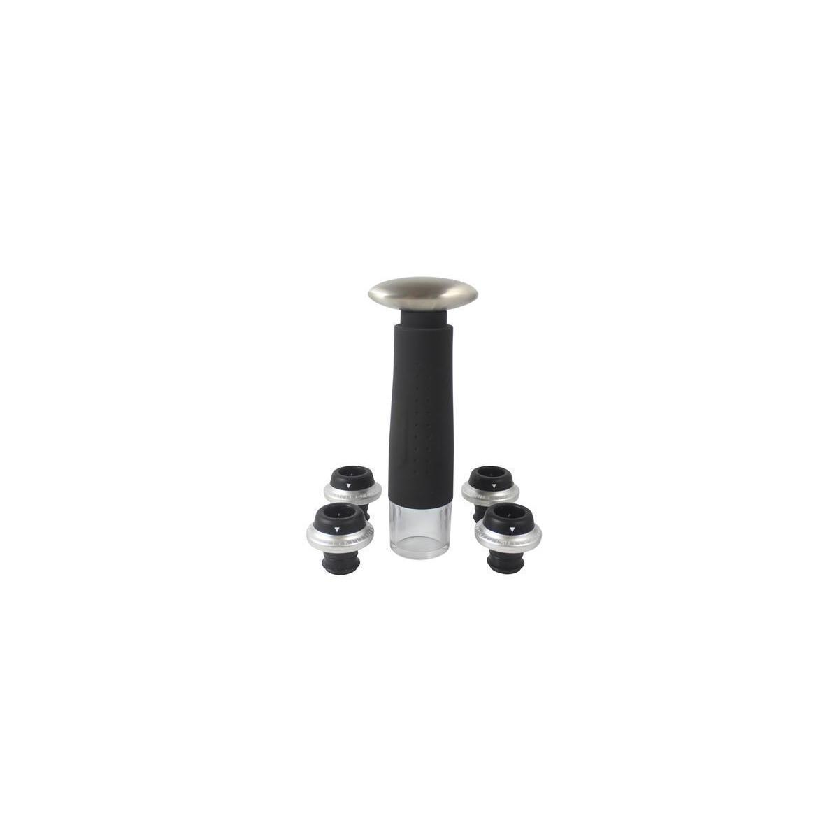 Fresh Pour - Wine Saver Pump Preserver with 4 Vacuum Wine Stoppers | Bottle Sealer for Keep Wine Fresh up to 7 days