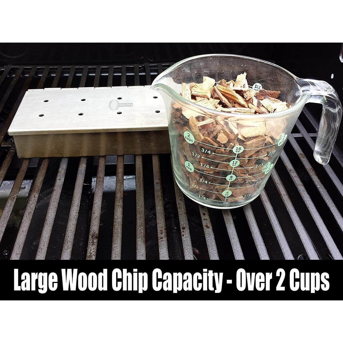 Smoker Box for BBQ Grill Wood Chips Stainless Steel