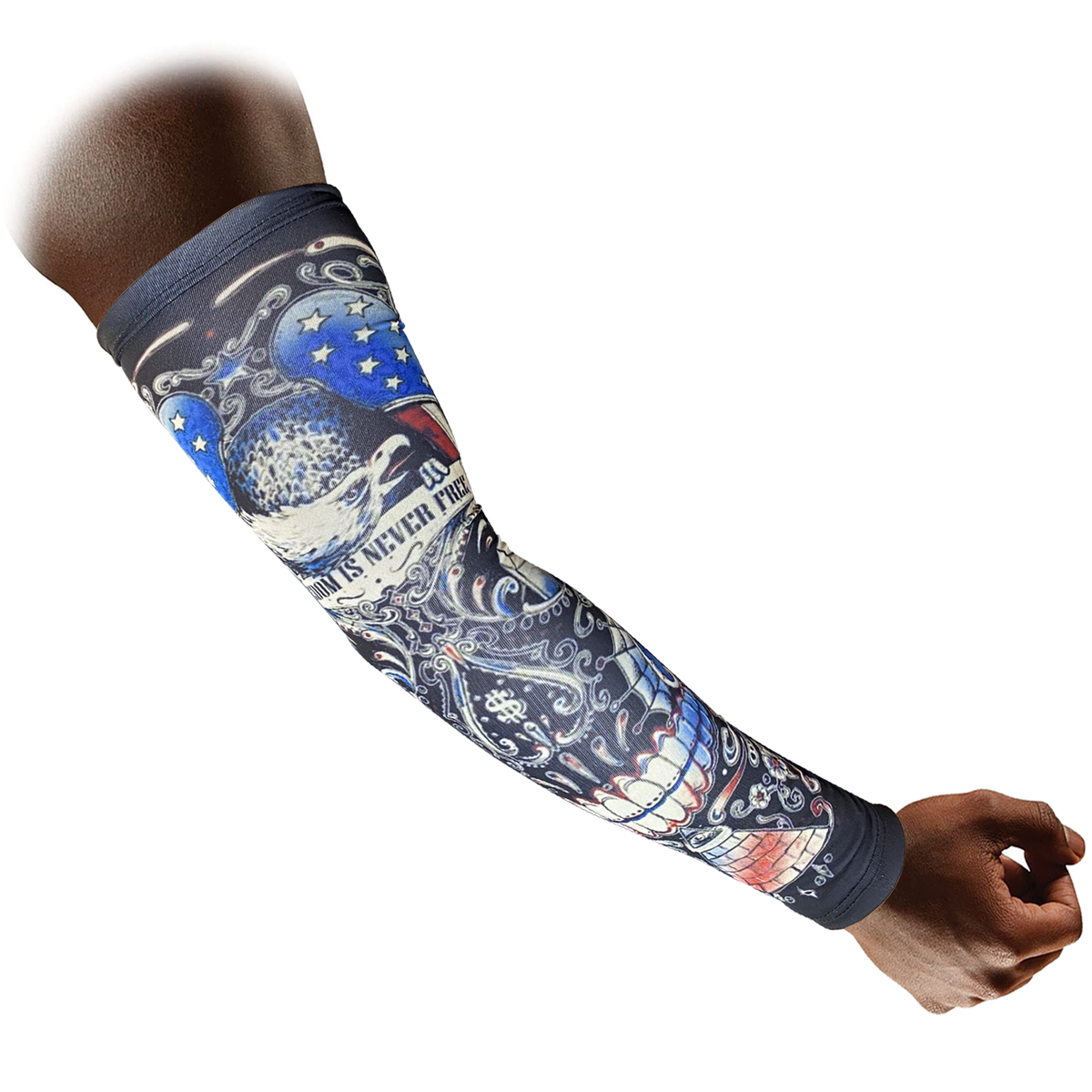 Rovers Compression Arm Sleeves 2 Pair, Made of Lyrca, Antiperspirant, Breathing Fabric for Basketball, Baseball, Football, Volleyball, Men Women Youth Kids