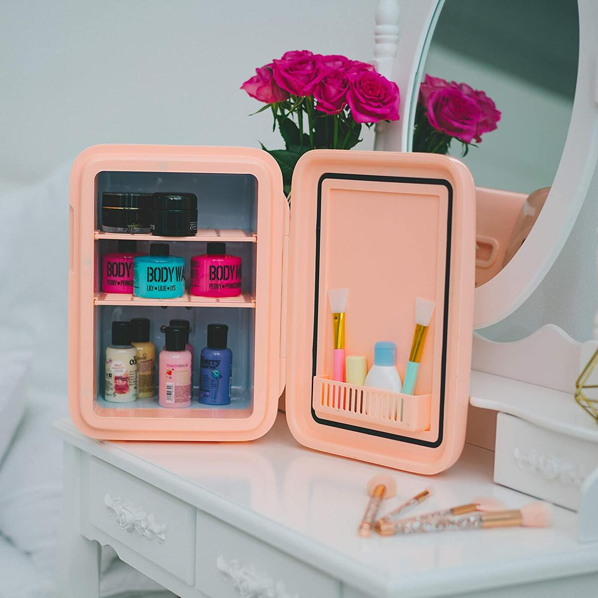 Mini Skincare Fridge - Baby Pink - 10L