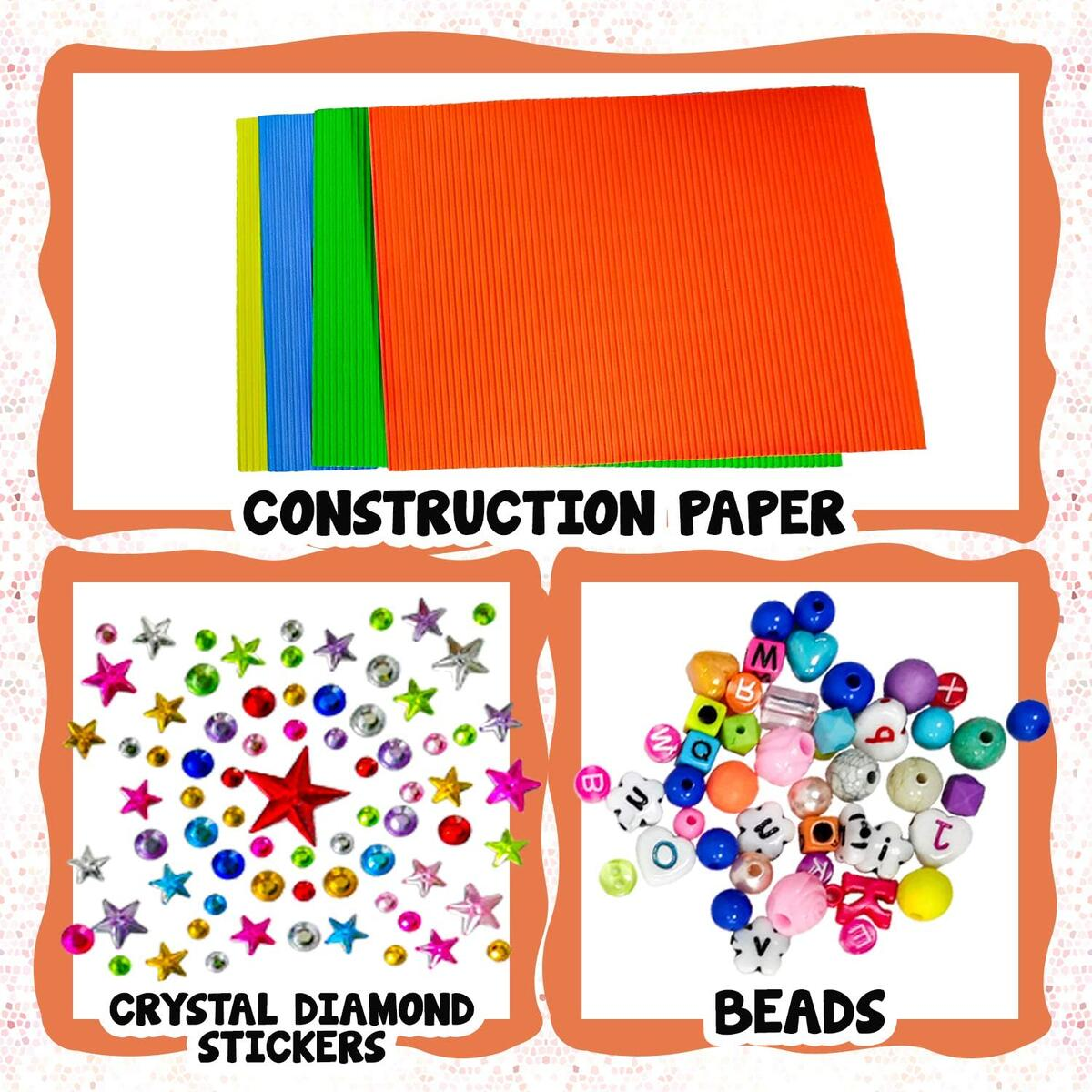 Arts and Crafts Supplies Craft Kits Set for Kids & Toddlers – Pipe Cleaners Pom poms Googly Eyes Beads – Kindergarten Preschool Homeschool Learning School Art Activities Games All Ages & Years Olds