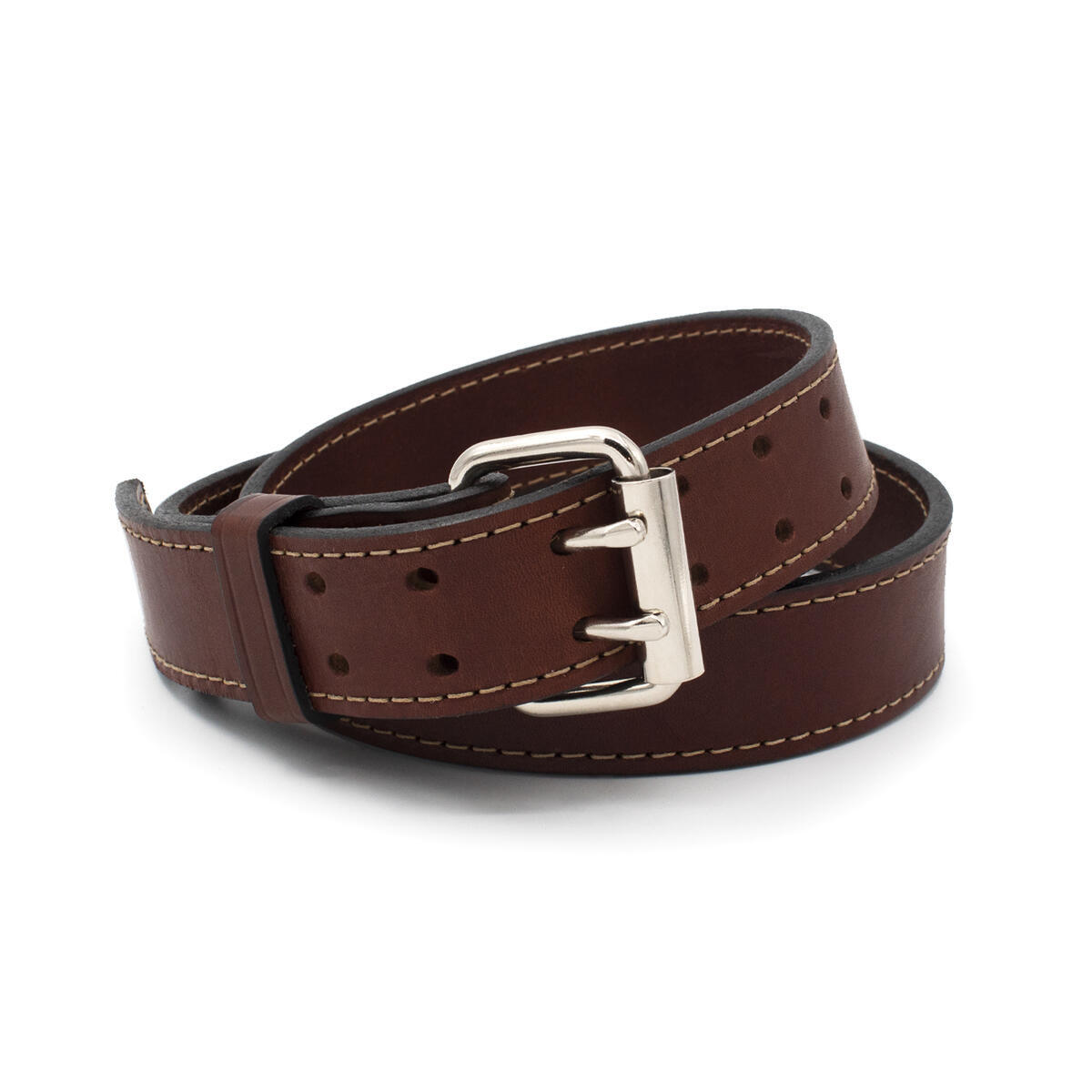 The Double Tap Leather Gun Belt | Made in USA | 14 oz Full Grain Leather CCW Belt | All Sizes & Colors Eligible