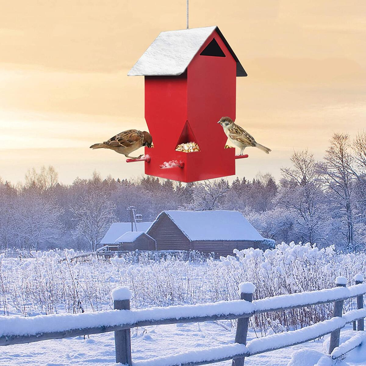 HOMENOTE Hanging House Bird Feeder
