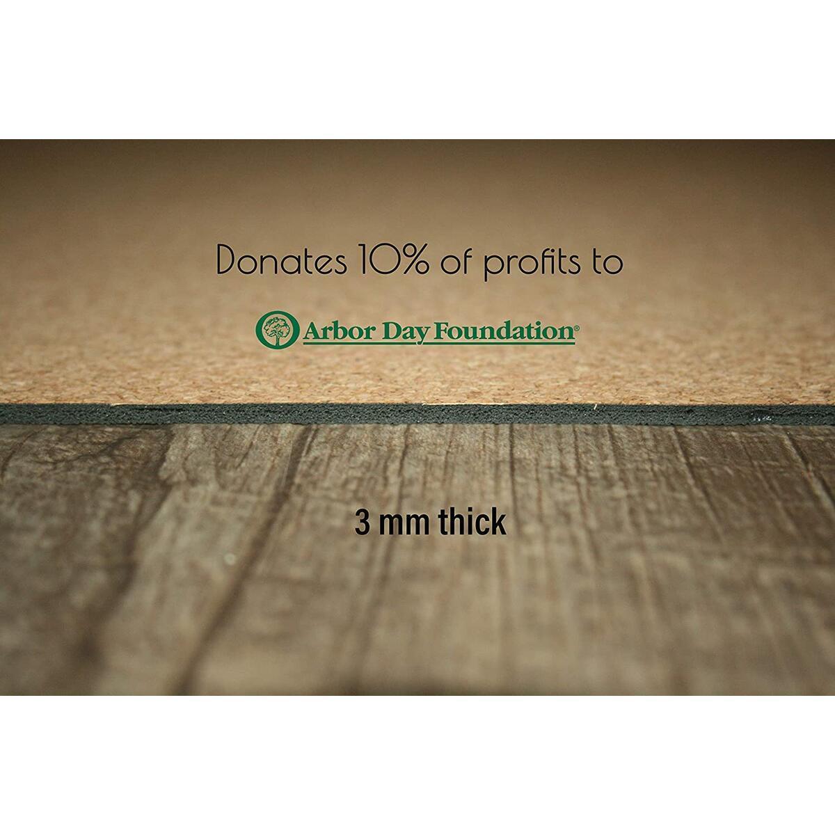 Cork and Natural Rubber Yoga Mat