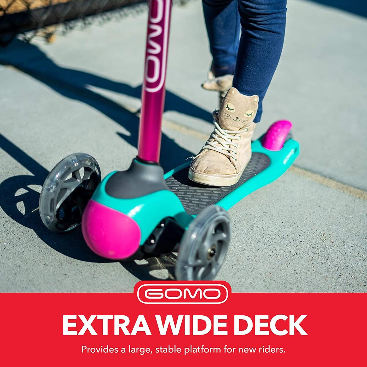 GOMO 3 Wheel Scooter for Kids (PINK COLOR ONLY)