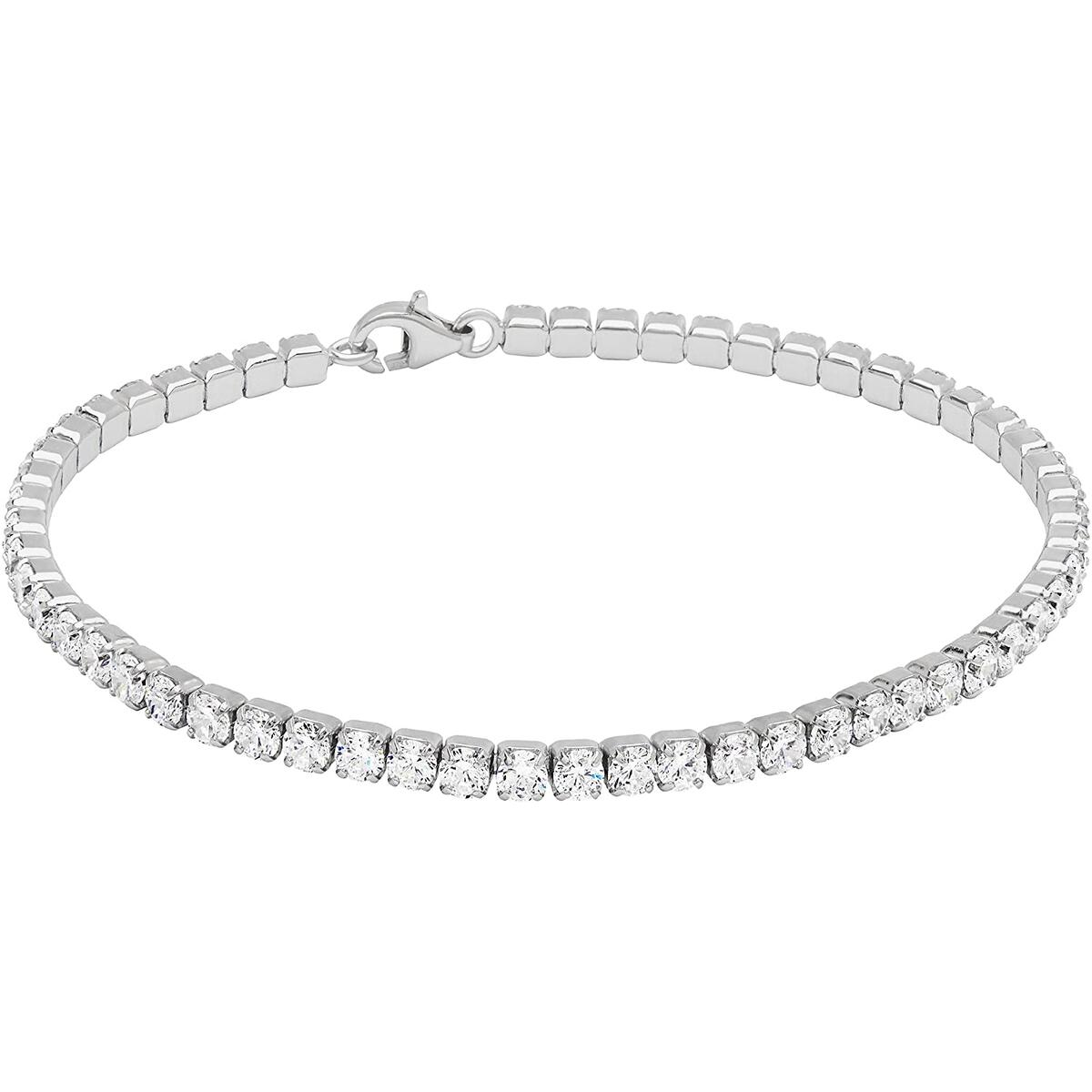Sterling Silver Classic Tennis Bracelet 7 inches