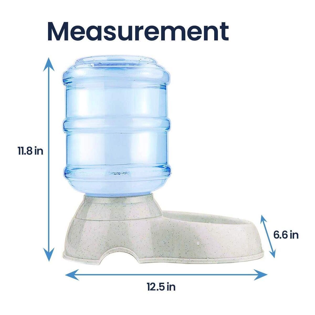 Zento Deals Automatic Pet Water Self-Dispenser Premium Quality Self-Dispensing Gravity Drinking Pet Waterer, 3.7 Liters Capacity