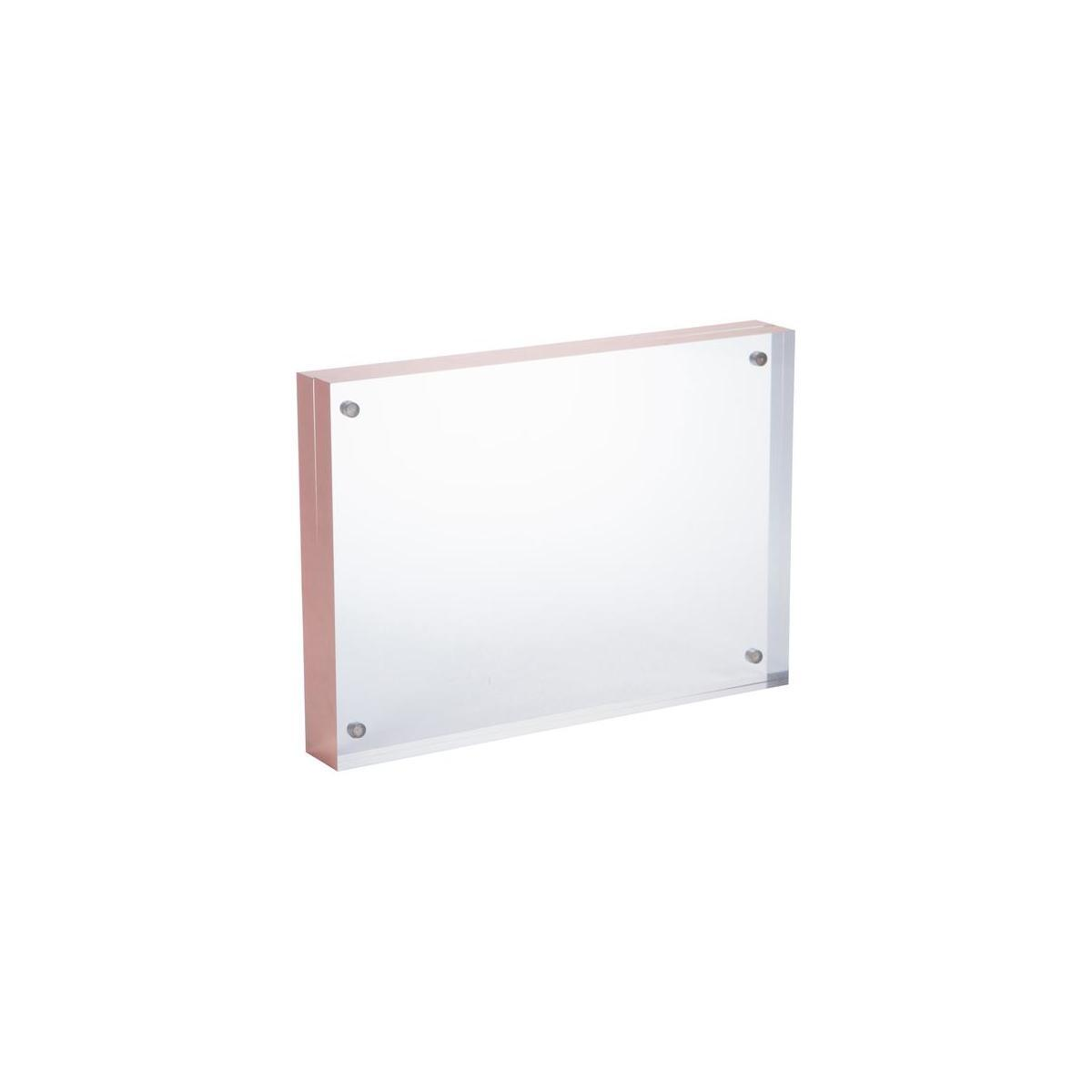 Double sided magnetic picture frame (4