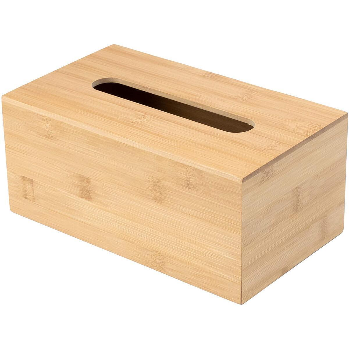 JUSK Design Bamboo Tissue Box Holder - Rectangular (Rebate only applies to rectangular box)