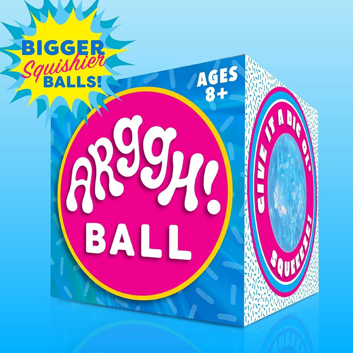 Glitter Stress Balls for adults- Medium Blue