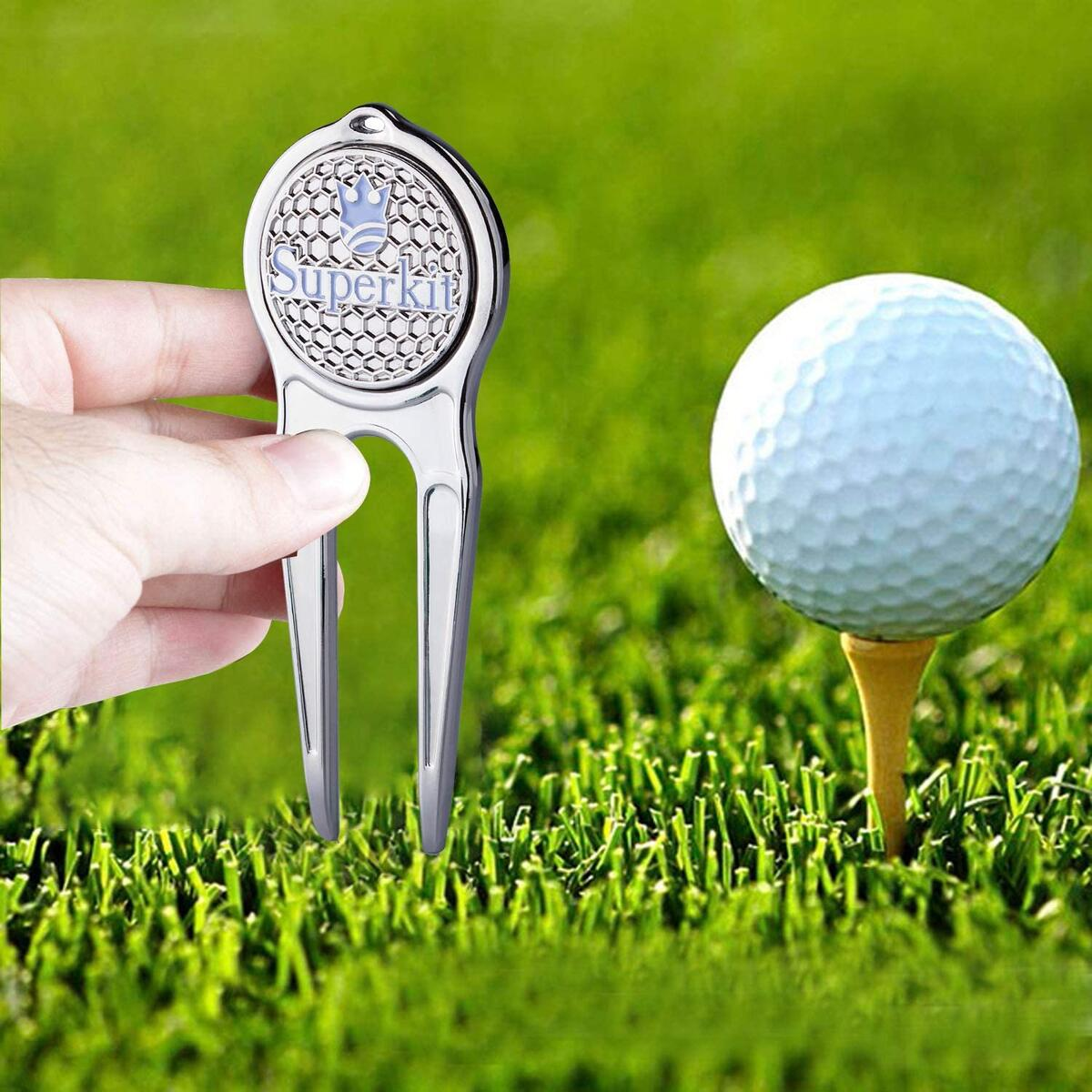 Superkit Magnetic Golf Divot Repair Tool with Removable Ball Marker