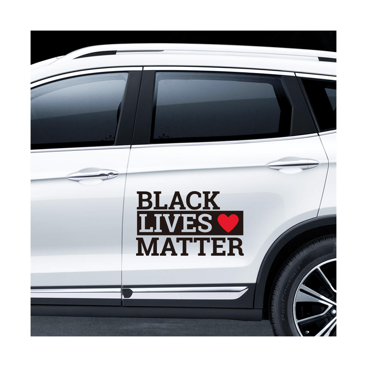 Black Lives Matter Sticker - 2 PCS Vinyl Decal BLM Sticker Laptop Stickers Wall Decal Waterproof BLM Car Sticker Bumper Stickers Car Window Stickers and Decals 10.6''x6.3''