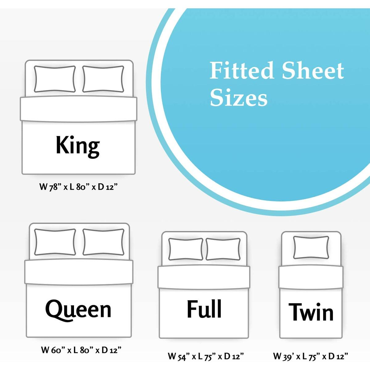 Grey King Fitted Sheet Only, Deep Pocket | Extremely Soft Brushed Microfiber Blend - 360 Elastic Band Bottom Keeps Sheet Secure Even in Heavy Movement | Wrinkle, Shrinking & Color Fade Resistant