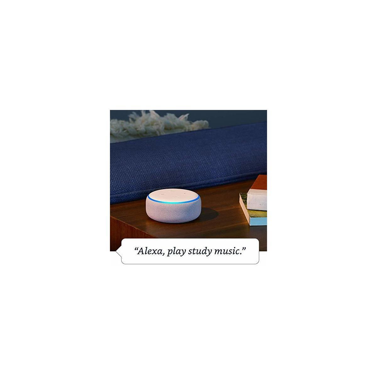 Echo Dot (3rd Gen) - Smart speaker with Alexa - ONLY COLORS: Charcoal, Heather Gray, Plum, Sandstone