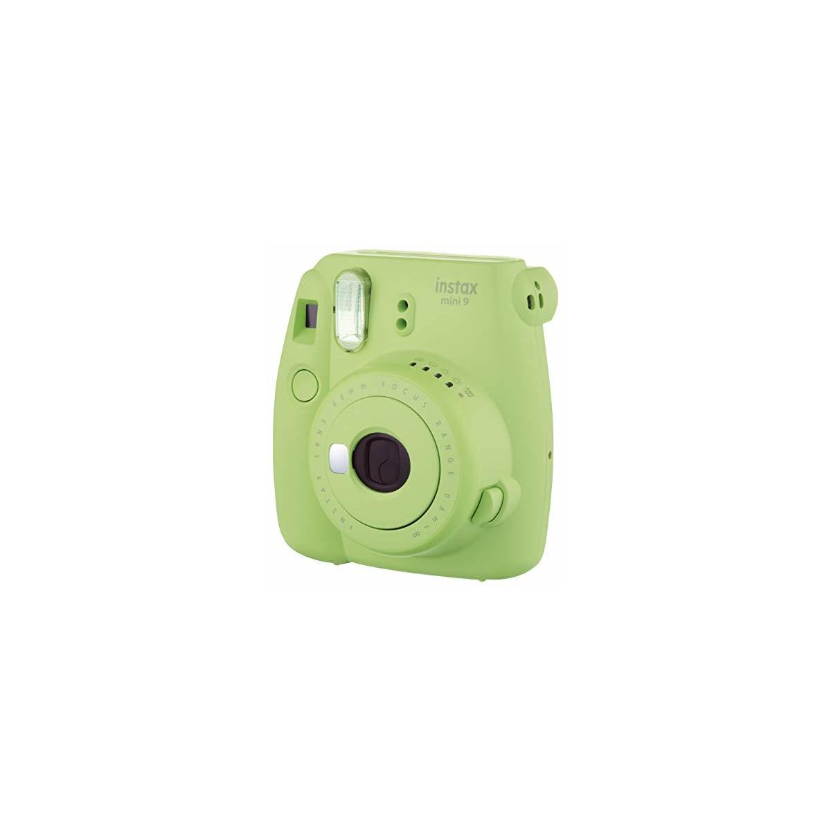 Fujifilm Instax Mini 9 Instant Camera, Lime Green, Style Base