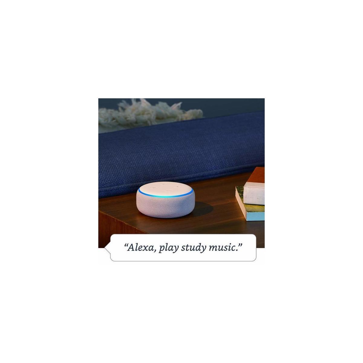 Echo Dot (3rd Gen) - Smart speaker with Alexa - (Charcoal - Heather Gray - Sandstone)