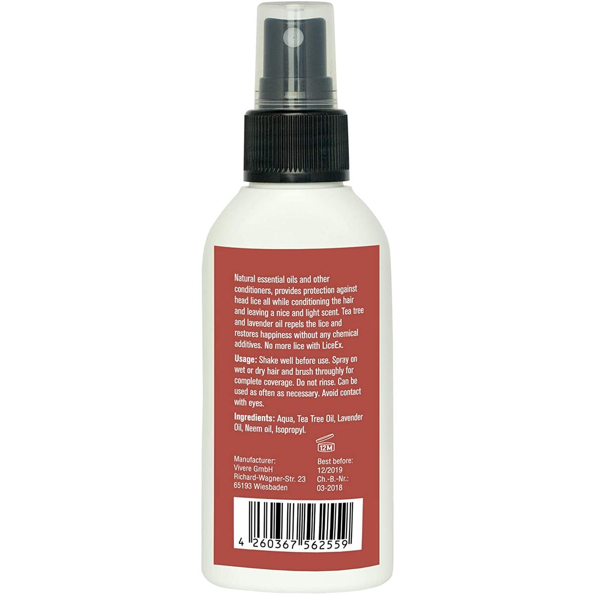 Lice Treatment Spray - Lice Spray for Hair | for Kids and Adults | Natural Lice Spray for Protection Against Head Lice - Alternative to Head Lice Shampoo and Lice Comb - 3.38 Fl Oz