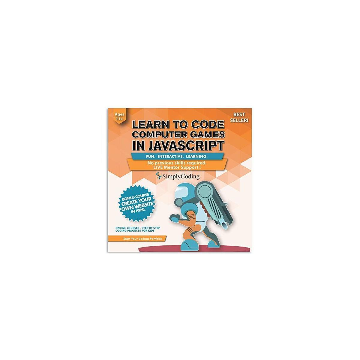 Coding for Kids: Learn to Code Javascript - Video Game Design Coding Software - Computer Programming for Kids, Ages 11-18, (PC, Mac, Chromebook Compatible)