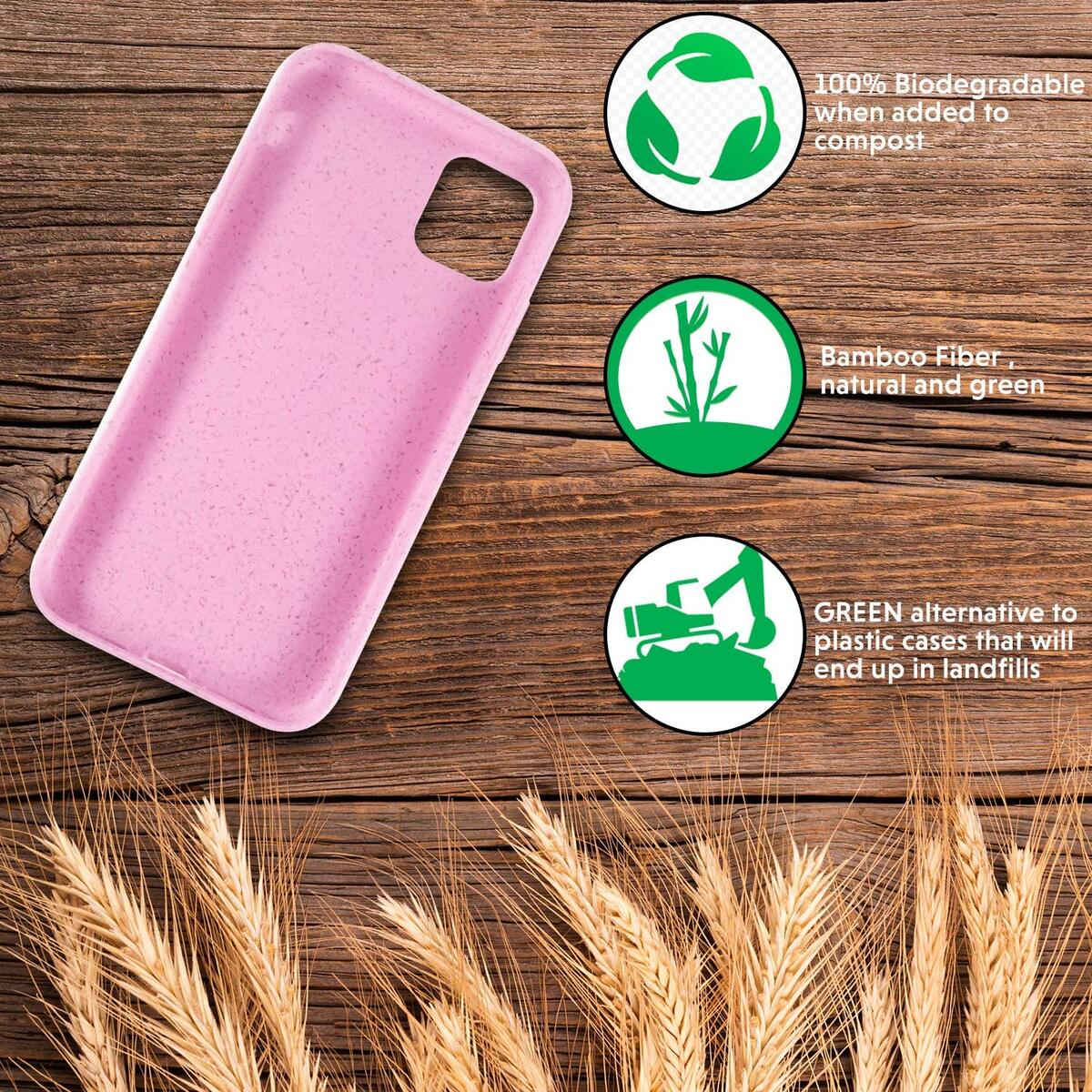 HDTECH Eco-Friendly iPhone 11 Phone Case, Biodegradable