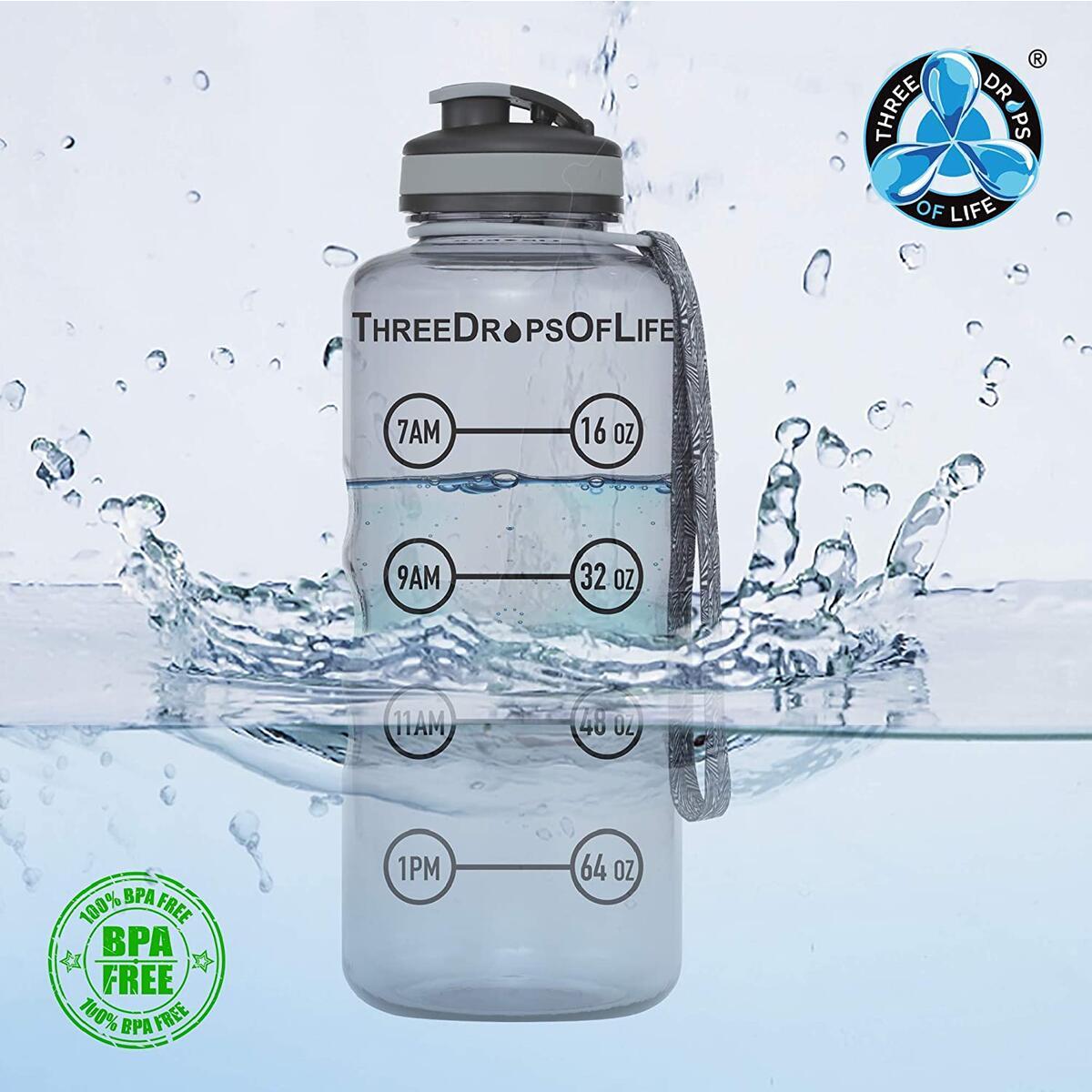 Large 64oz Hydration Tracking Water Bottle