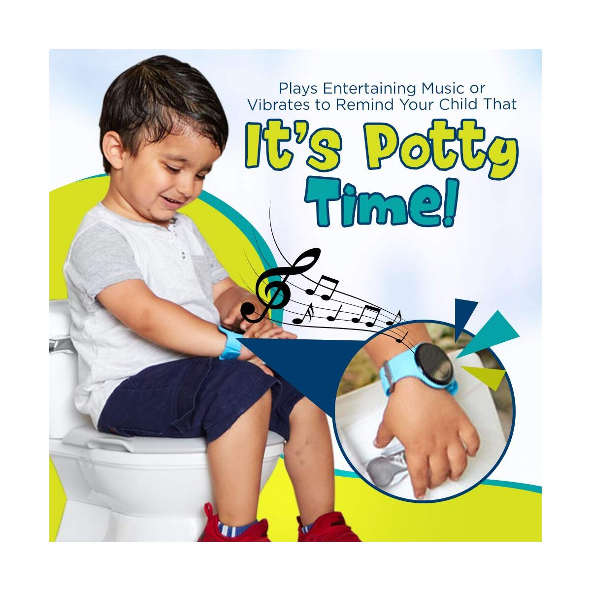 Kidnovations Premium Potty Training Watch - Rechargeable, Water Resistant, Toddler Reminder Watch for Toilet Training Boys & Girls - Potty Trainer Alarm/Timer & Bathroom Training for Kids & Toddler