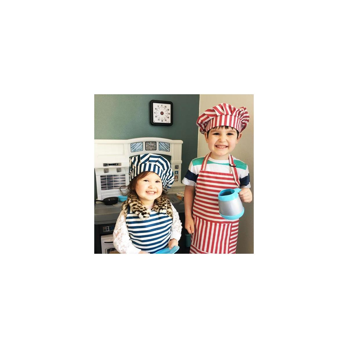 Blue Stripe Kids Apron and Chef Hat