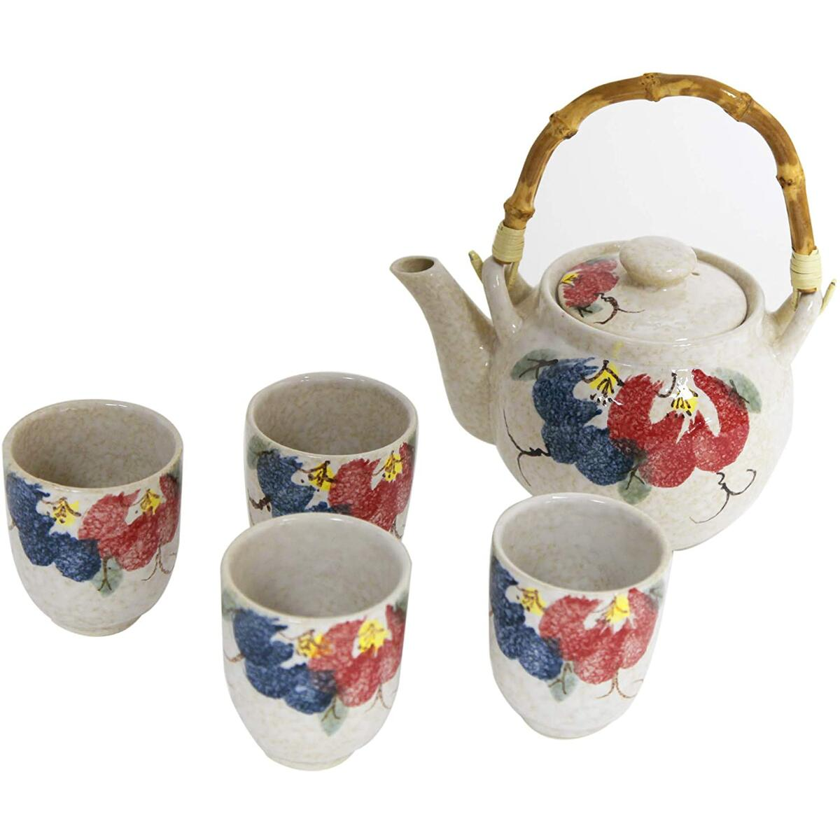 Ceramic Tea Pot and Cups Set
