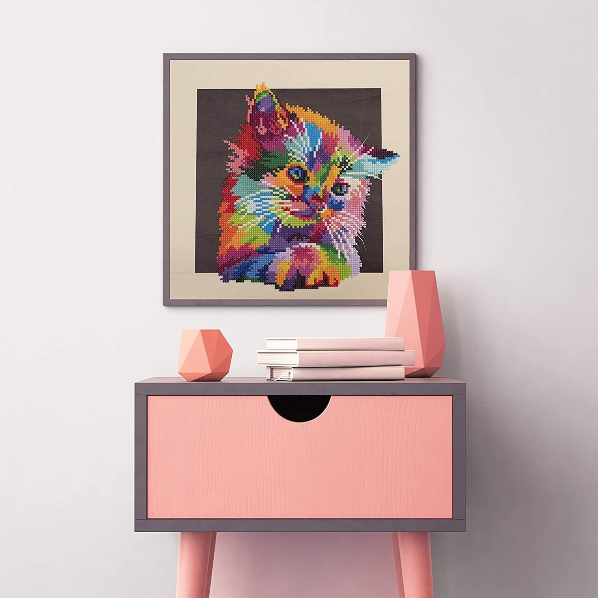 Diamond Painting Colorful Kitten