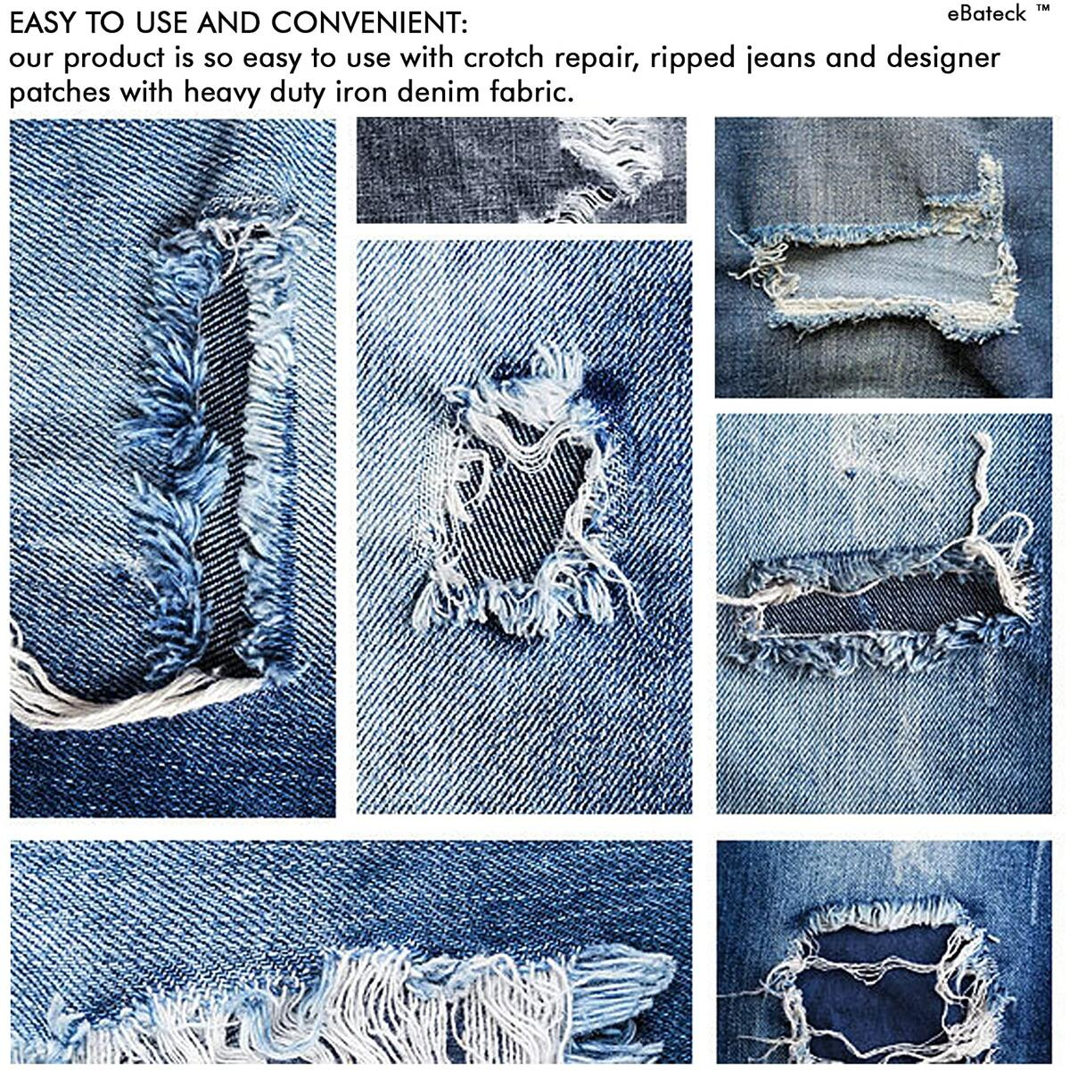 24Pcs Iron On Patches for Clothing Repair - 6 Colors Blue
