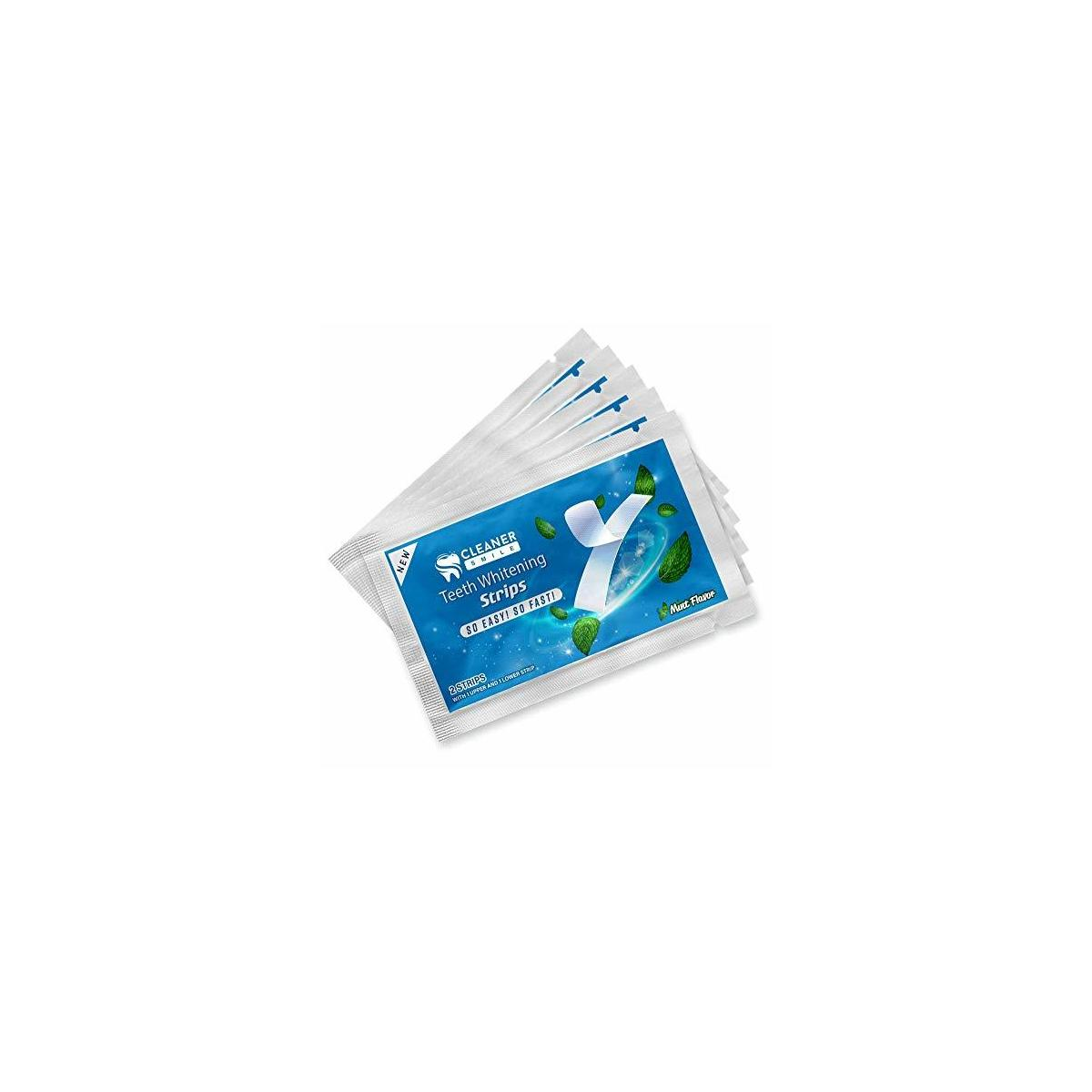 Cleaner Smile | Whitening Teeth Strips | Professional Results and Mess Free (White)…