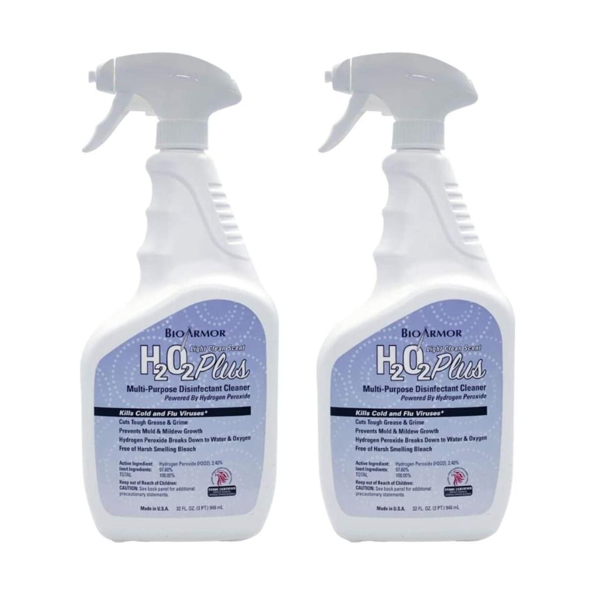 BioArmor H2O2 Plus Multi Purpose Disinfectant Cleaner 32oz Spray - 2 PACK - Made In USA - NVBDC Certified …
