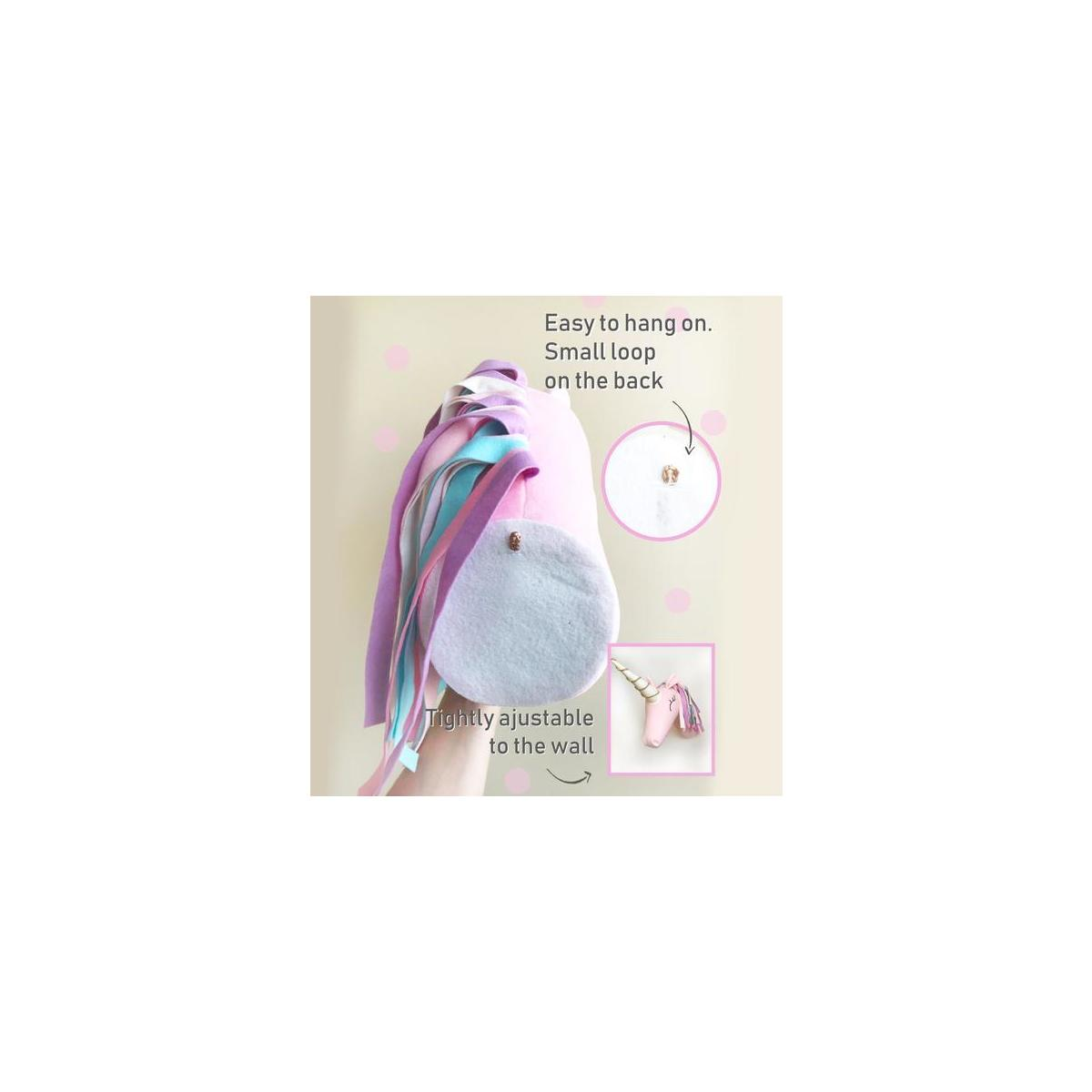 Unicorn Wall Head Mount for Kids Room