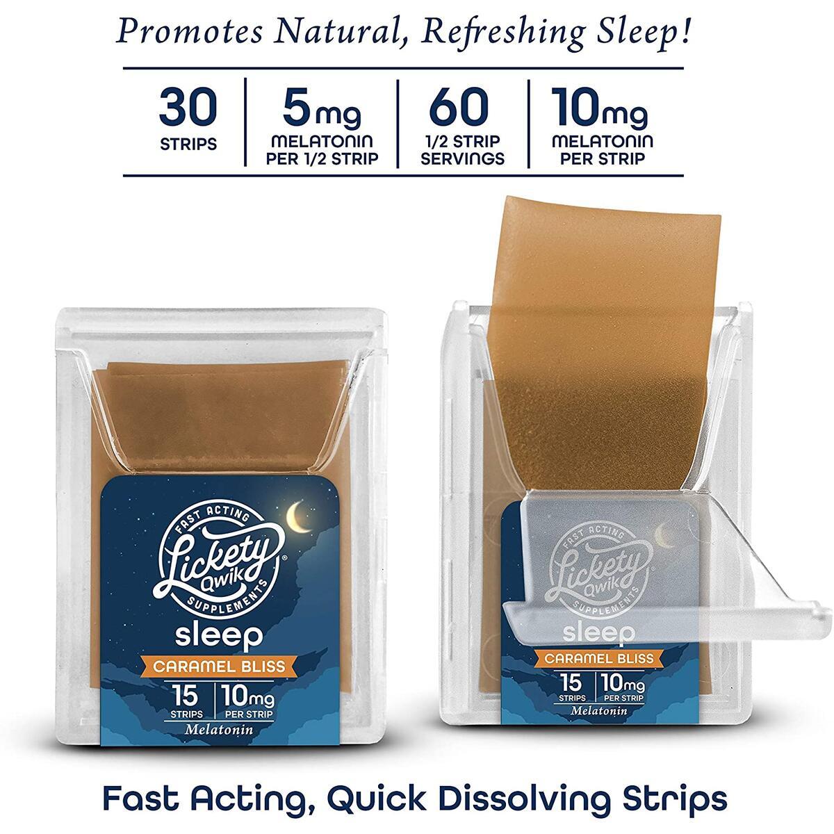 Lickety Qwik Melatonin Sleep Strips