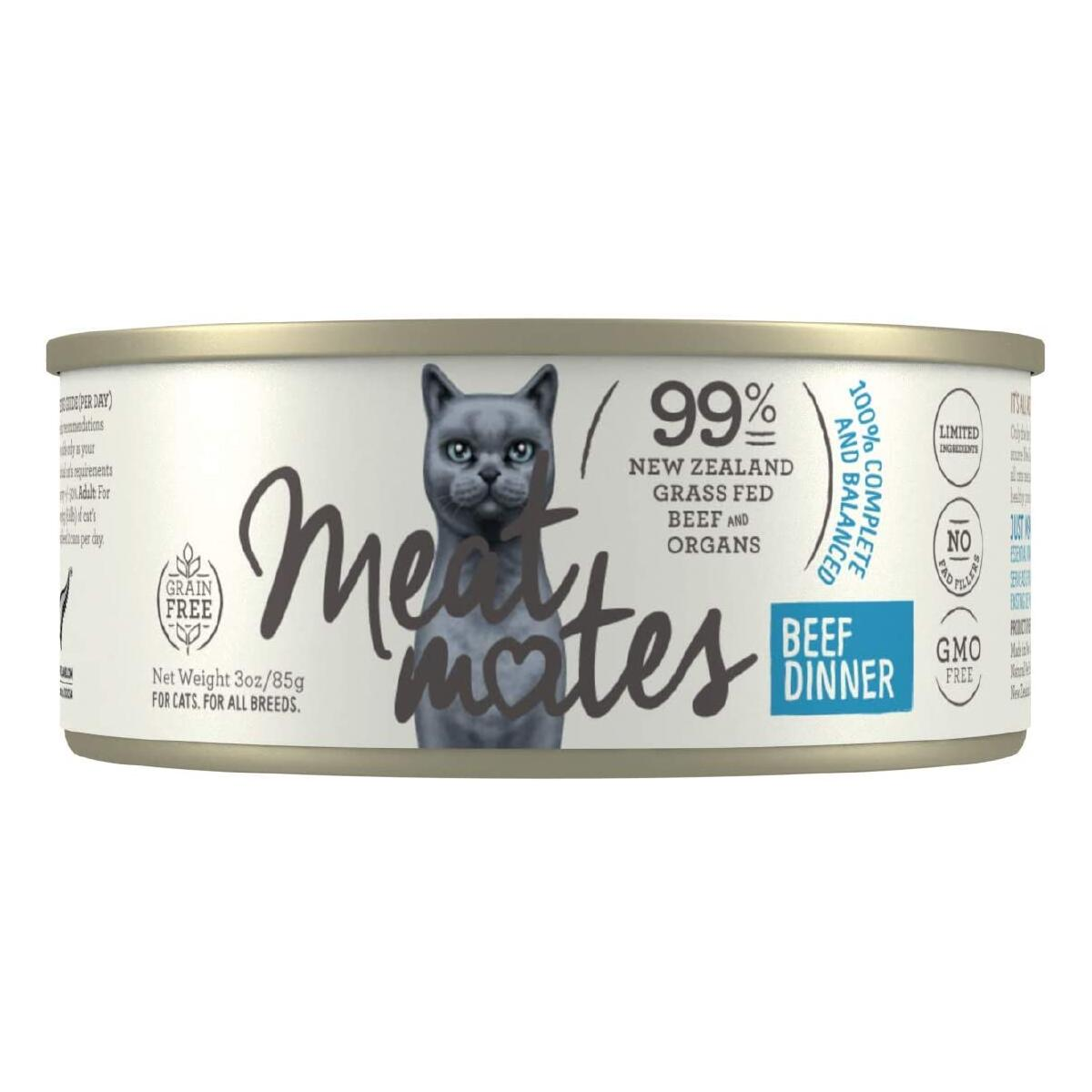 Meat Mates Grain Free Canned Cat Food - BEEF - 24 Pack