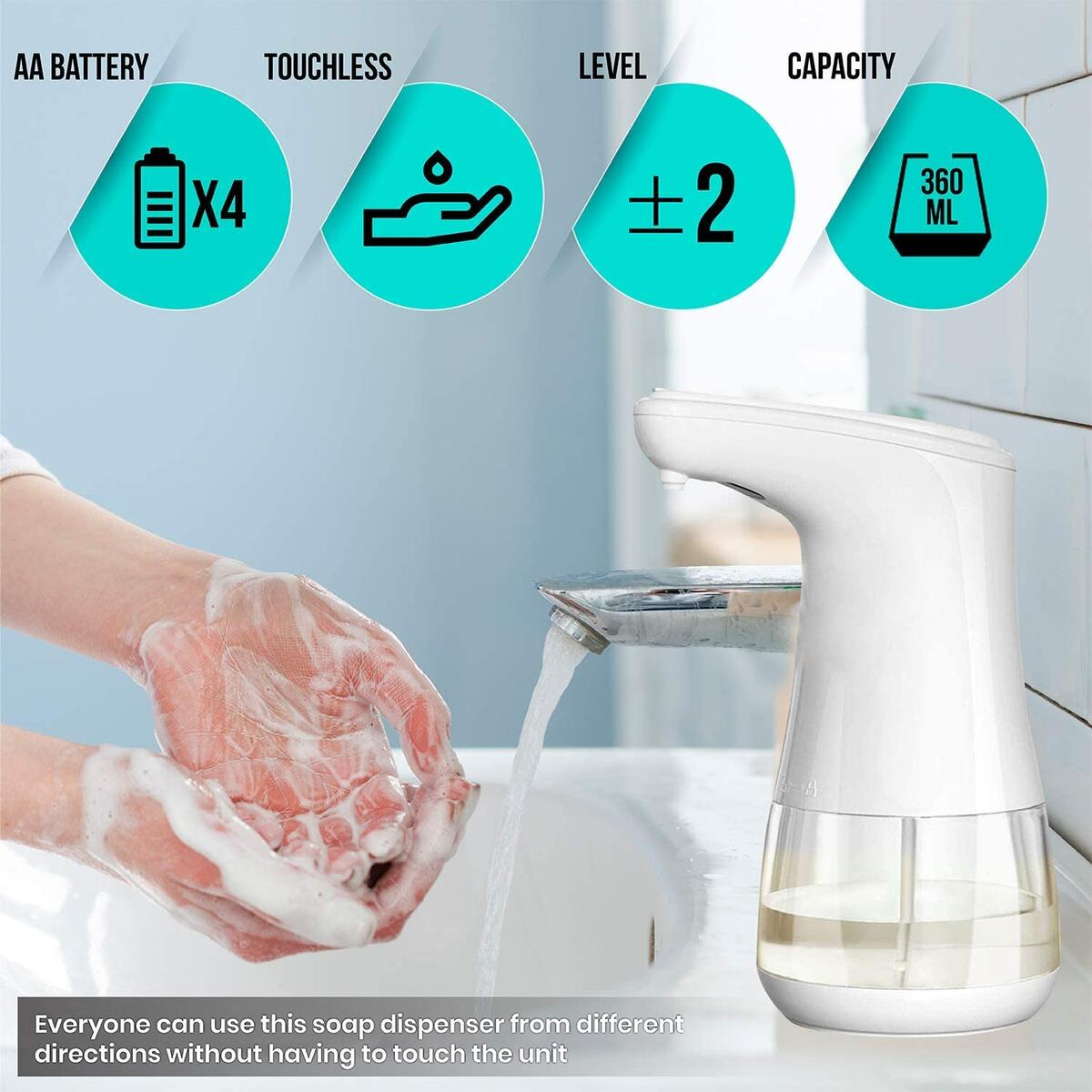 Automatic Gel Soap Dispenser Touchless Infrared Induction Non-Contact