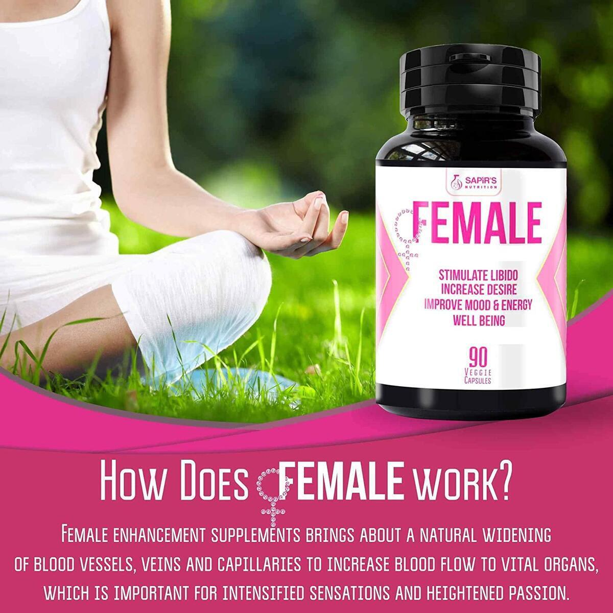 Female Enhancement for Women - Natural Herbal Complex Extract for Women – 90 Capsules of Pure Energy, Stamina, Performance with Ginkgo Biloba, Ginseng, Tribulus, Tongkat Ali - 2000mg Daily Pills…