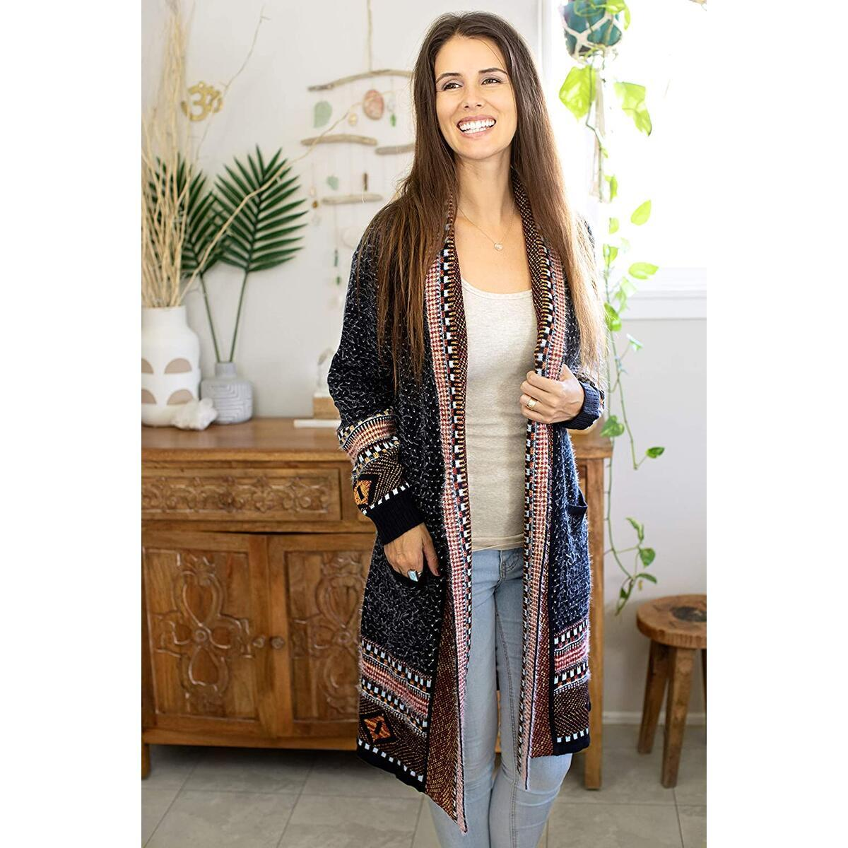 Happy Trunks Boho Cardigan Sweater Navy