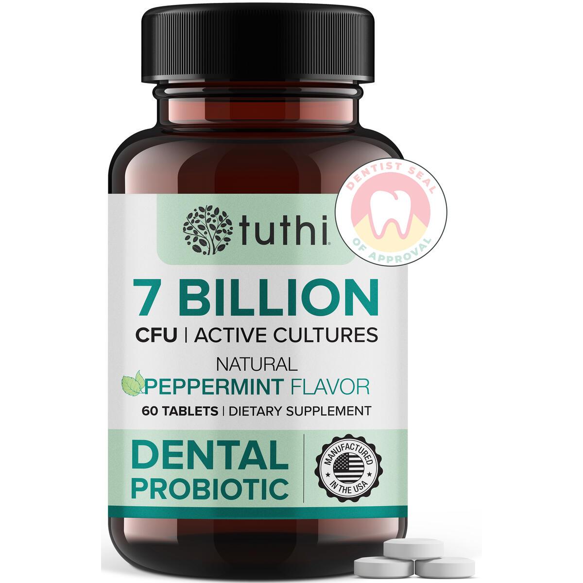 Dental Probiotics - Probiotic for Mouth Teeth & Gum Care - Oral Health - Fresh Breath - 60 Lozenges