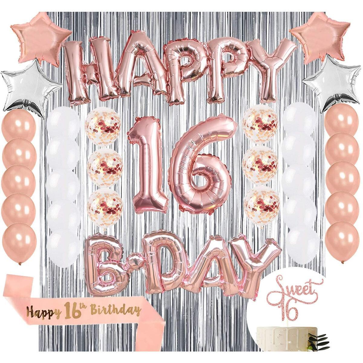 16th Birthday Party Decorations for Girls