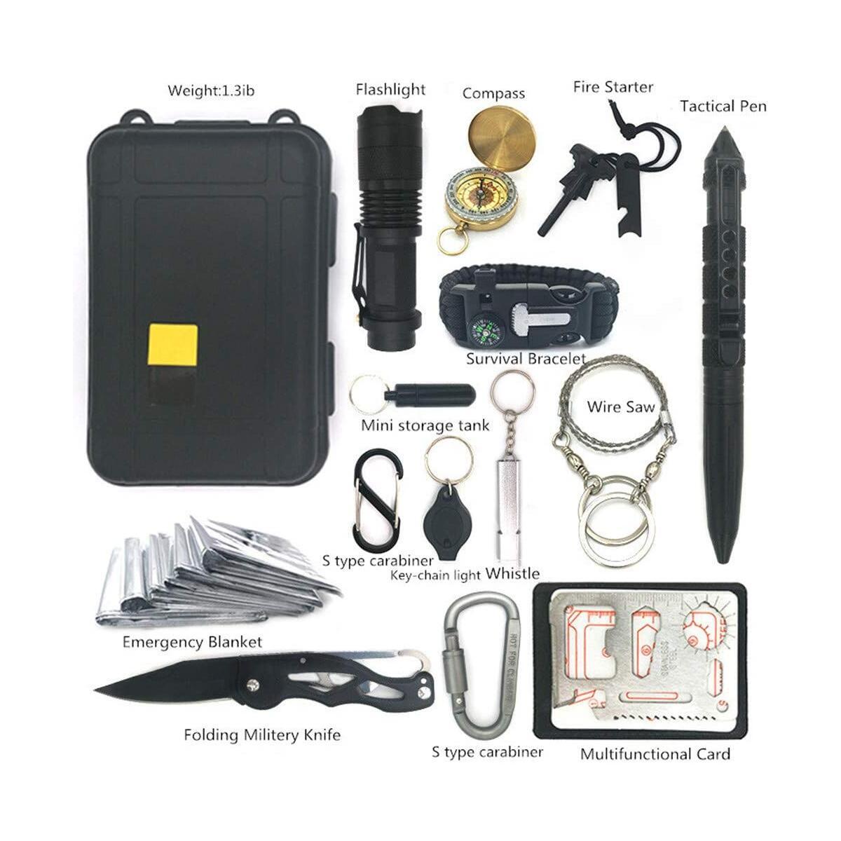 Soysehung Survival Gear, 15 in 1 Emergency Survival Kit, Camping Gear,Survival Tool
