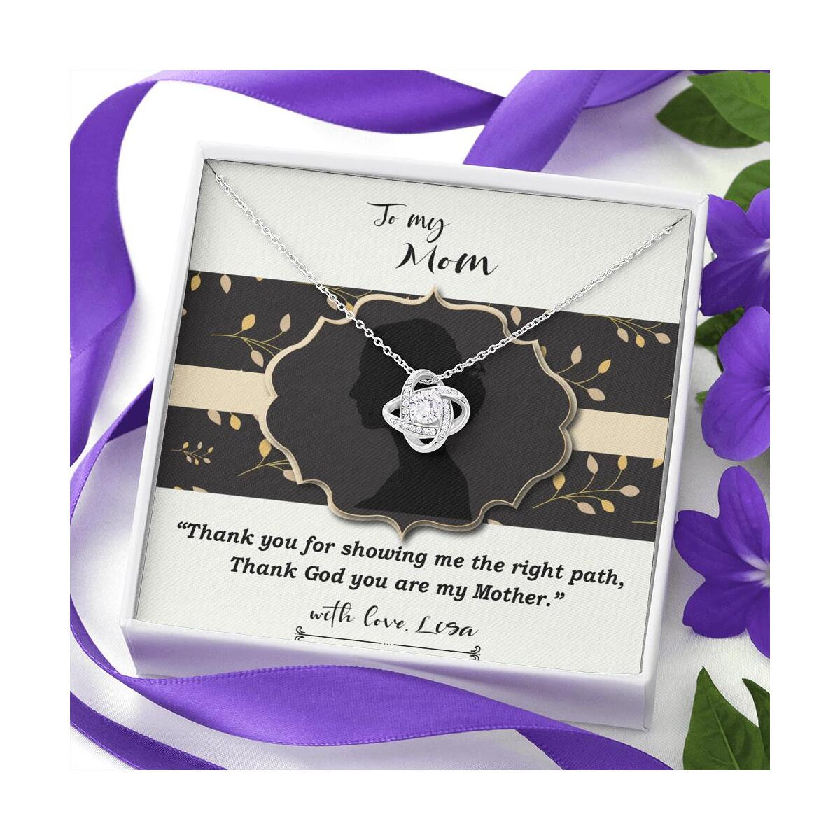 Gift To My Mom, Stirom Necklace With A Message Card