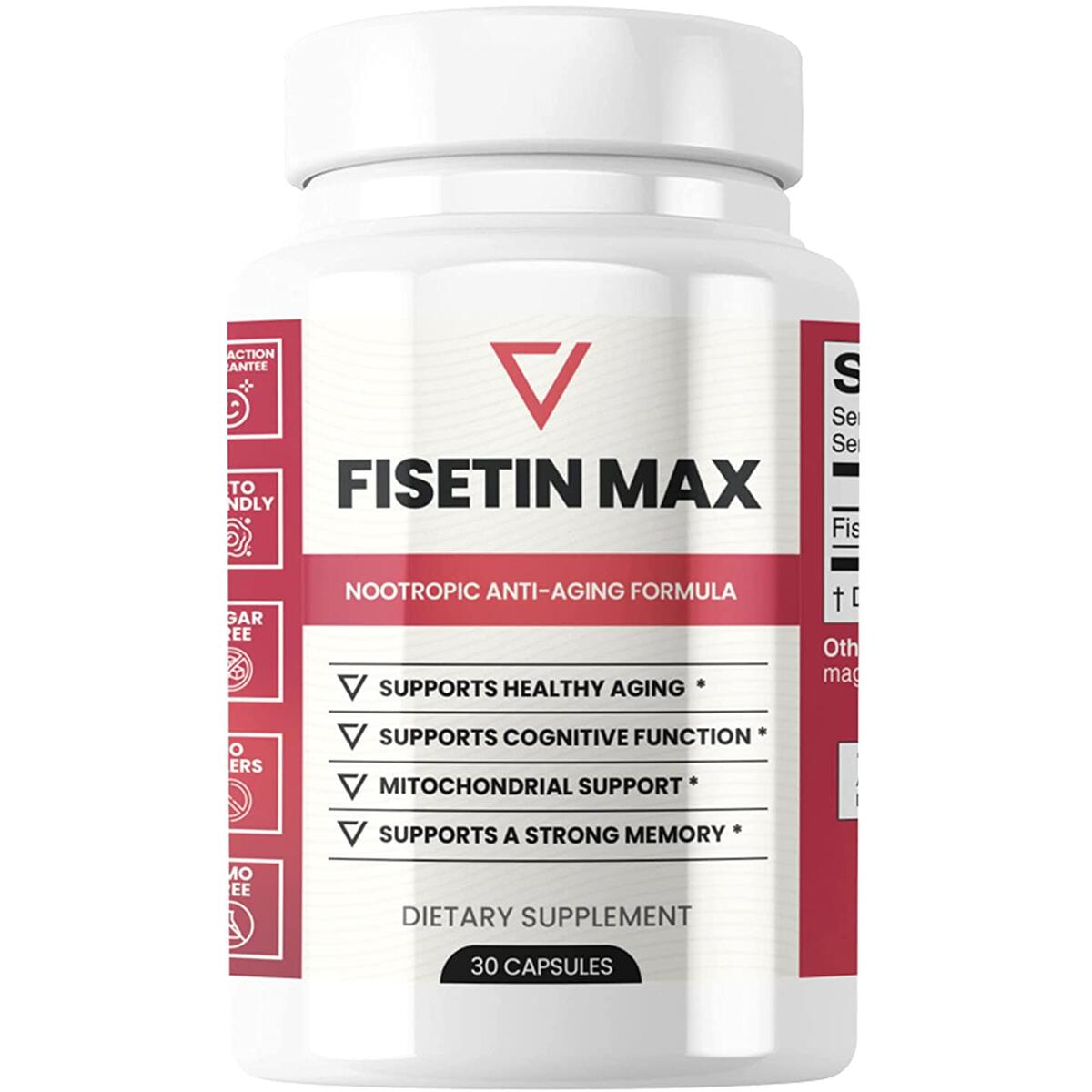Fisetin Max | Nootropic Anti-Aging Supplement - Doctor Approved Antioxidant Support for Healthy Aging, Better Brain Health, Improved Energy Levels, and Maintaining Strong Memory* - 30-Day Supply