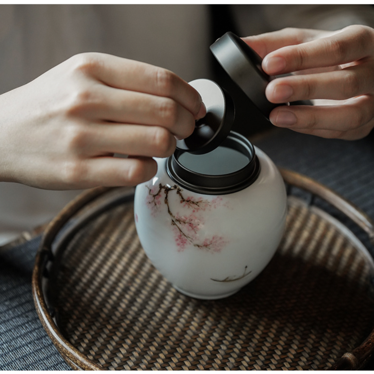 Tea Jar, Tea container, Kitchen storage Jar, Hand painted ,Special gift